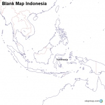 Blank Map Indonesia