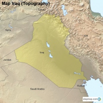 Map Iraq (Topography)