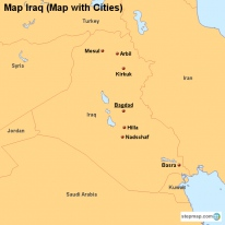 Map Iraq (Map with Cities)