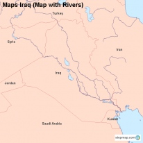 Maps Iraq (Map with Rivers)