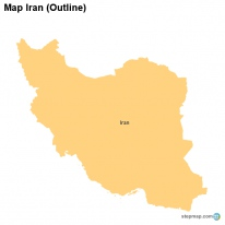 Map Iran (Outline)