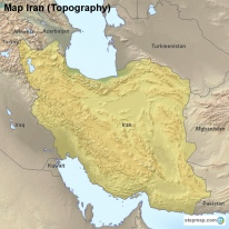 Map Iran (Topography)