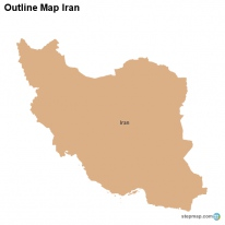 Outline Map Iran
