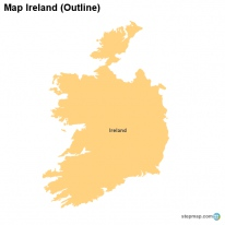 Map Ireland (Outline)