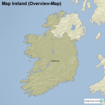 Map Ireland (Overview-Map)