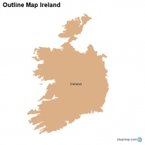 Outline Map Ireland