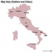 StepMap Maps For Italy - Map of italy cities