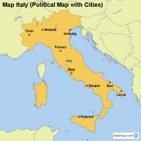 StepMap Maps For Italy - Political map of italy