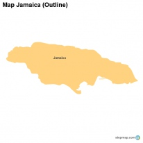 Map Jamaica (Outline)
