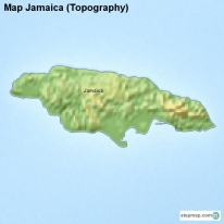 Map Jamaica (Topography)