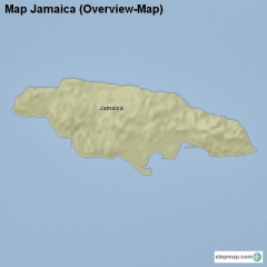 Map Jamaica