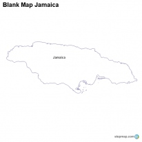 Blank Map Jamaica