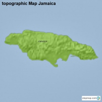 topographic Map Jamaica