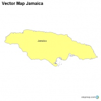 Vector Map Jamaica
