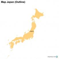 StepMap Maps For Japan - Japan map outline