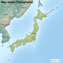 Map Japan (Topography)