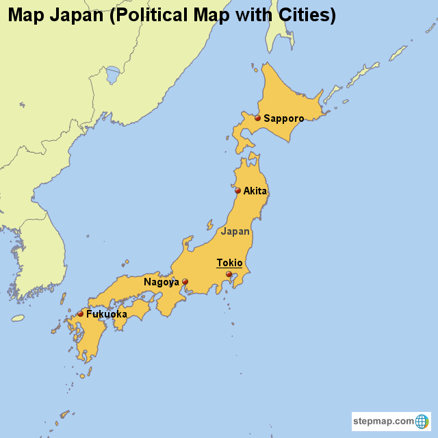 stepmap maps for japan