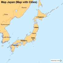 Map Japan (Map with Cities)