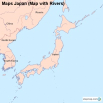 Maps Japan (Map with Rivers)
