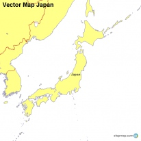 Vector Map Japan