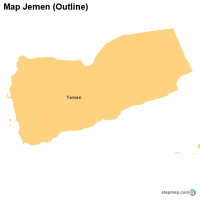 Map Jemen (Outline)