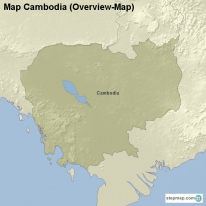 Map Cambodia (Overview-Map)