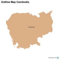 Outline Map Cambodia