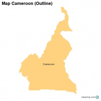 Map Cameroon (Outline)