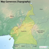 Map Cameroon (Topography)