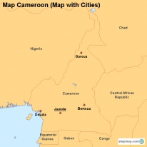 Map Cameroon (Map with Cities)