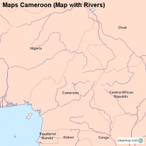 Maps Cameroon (Map with Rivers)