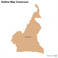 Outline Map Cameroon