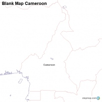 Blank Map Cameroon