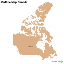 Outline Map Canada