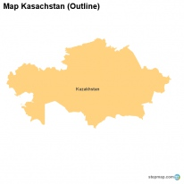 Map Kasachstan (Outline)