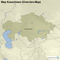 Map Kasachstan (Overview-Map)