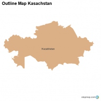 Outline Map Kasachstan