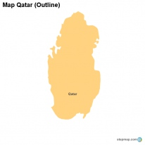 Map Qatar (Outline)