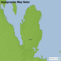 topographic Map Qatar