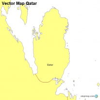 Vector Map Qatar