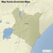 Map Kenia (Overview-Map)