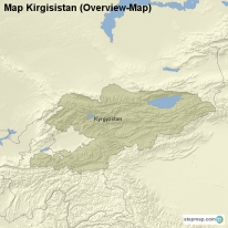 Map Kirgisistan (Overview-Map)