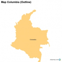 map columbia outline