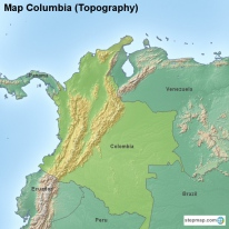Map Columbia (Topography)