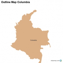 Outline Map Columbia