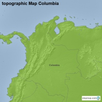 topographic Map Columbia