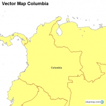 Vector Map Columbia