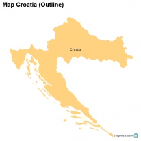 Map Croatia (Outline)