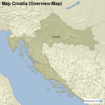 Map Croatia (Overview-Map)