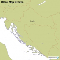 Blank Map Croatia